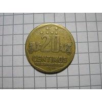 Перу 20 сентимос 1993г.km306.1
