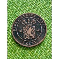 Нидерландская Восточная Индия 1 цент 1858 Виллем III к3