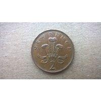 Великобритания 2 новых пенса, 1980г. (D-8)