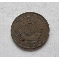 Великобритания пол-пенни 1946 Георг VI