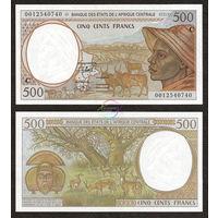 ЦАР- центрально африканская республика 500 франков ПРЕСС из пачки UNC