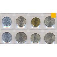 Турция комплект монет (8 шт.) 1985-1994 гг. скидки.