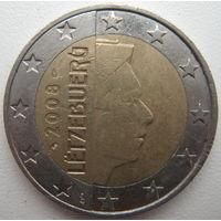 Люксембург 2 евро 2008 г. (a)