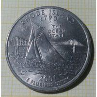 США 25 центов, 2001, Род Айленд