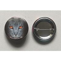 Значок металлический, 2 шт., WARRIOR CAT= КОТ-ВОИН
