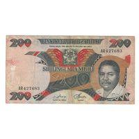 Танзания 200 шиллингов образца 1986 года. Большой номинал. Редкая!