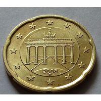 20 евроцентов, Германия 2008 D, AU