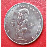 Острова Кука, 5 центов,  2000 г.