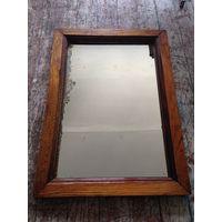 Старое зеркало дуб 1929 год с подписью