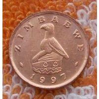 Зимбабве 1 цент 1997 г. Инвестируй выгодно в монеты планеты!