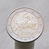 Греция 2 евро 2002 S в звезде