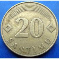 Латвия 20 сантимов 1992 (2-75)