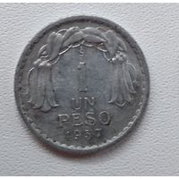 Чили 1 песо, 1957 6-1-15
