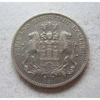 Гамбург Германская империя 5 марок 1904