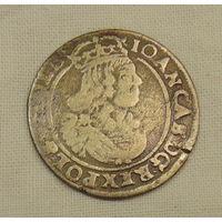 Редкий шестигрошовик 1664 год( с редким знаком на реверсе (R3))