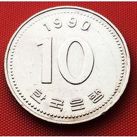 117-06 Южная Корея, 10 вон 1990 г.