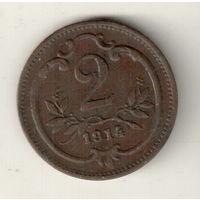 Австрия 2 геллер 1914