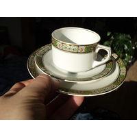 Чашка тарелки трио Германия  модерн