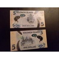 Соломоновы острова 5 долларов (новинка) состояние UNC