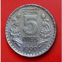 40-33 Индия, 5 рупий 1999 г.