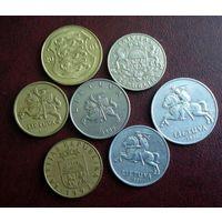 Монеты Прибалтики. 7 штук 1991-2007 г.