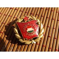 Знак Венгерский коммунистический союз молодежи бригада социалистического труда,тяжелый,много лотов в продаже!!!