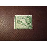 Британские Каймановы острова 1938 г. Георг VI . Большая корифена, или золотая макрель.