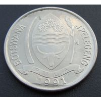 """Ботсвана. 10 тхебе 1991 год КМ#5а """"Южно-африканский сернобык"""""""