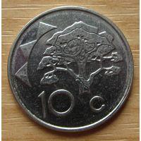 НАМИБИЯ-10центов2009г.       KM# 2