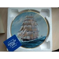 Коллекционная тарелка, Флитвуд, Fleetwood, корабль, парусник, оригинал в коробке