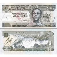Эфиопия   1 бырр  2008 год  UNC