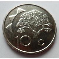 """Намибия 10 центов 2009 """"Акация"""""""