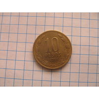 Чили 10 песо 2000 г.