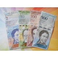 Венесуэла 2-50-100-500боливар 2007-2016г