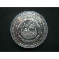 Либерия 5 долларов 2002 г.