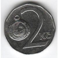 Чехия. 2 кроны 1993 года.