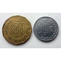 Мексика - 2 монеты (из коллекции)