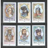 Молдавия 1993 Правители Молдовы Князья, 6 м.  **