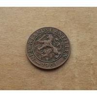 Нидерландские Антильские острова, 1 цент 1961 г.