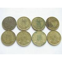 Испания 1 песета Цена за монету Список монет в наличии внизу (10)