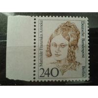 Берлин 1988 Стандарт, известная женщина 18 века Михель-4,0 евро