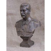 Бюст Сталина, бронза, вес 500 гр, высота 12.5 см