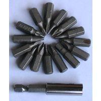 Набор бит (15 шт. - ассорти) с магнитным держателем