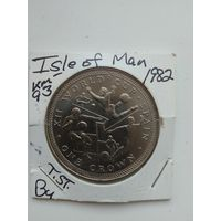 1 crown 1982 Isle of MAN ЧМ по футболу в Испании KM#93