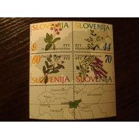 Словения 1994г. Цветы