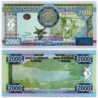 Бурунди. 2000 франков (образца 2008 года, P47, UNC) [#610016, радар]
