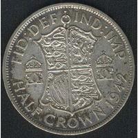 Британия 1/2 кроны 1942 г. Серебро.