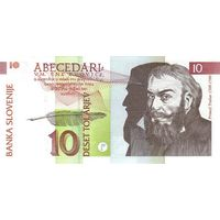 Словения 10 толар 1992 UNC