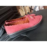 Туфли мокасины кожа ягнёнка Турция р.40 Антистресс