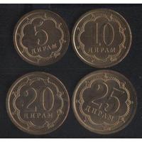 Таджикистан 5,10,20,25 дирам 2006 г. (магнит). Без обращения!!!